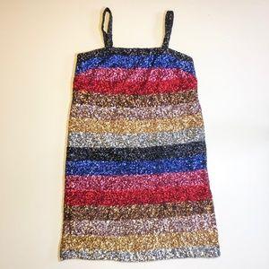 Gap Sequin Rainbow Party Dress